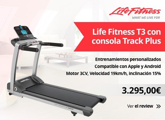 Life Fitness T3 cinta de correr con Consola