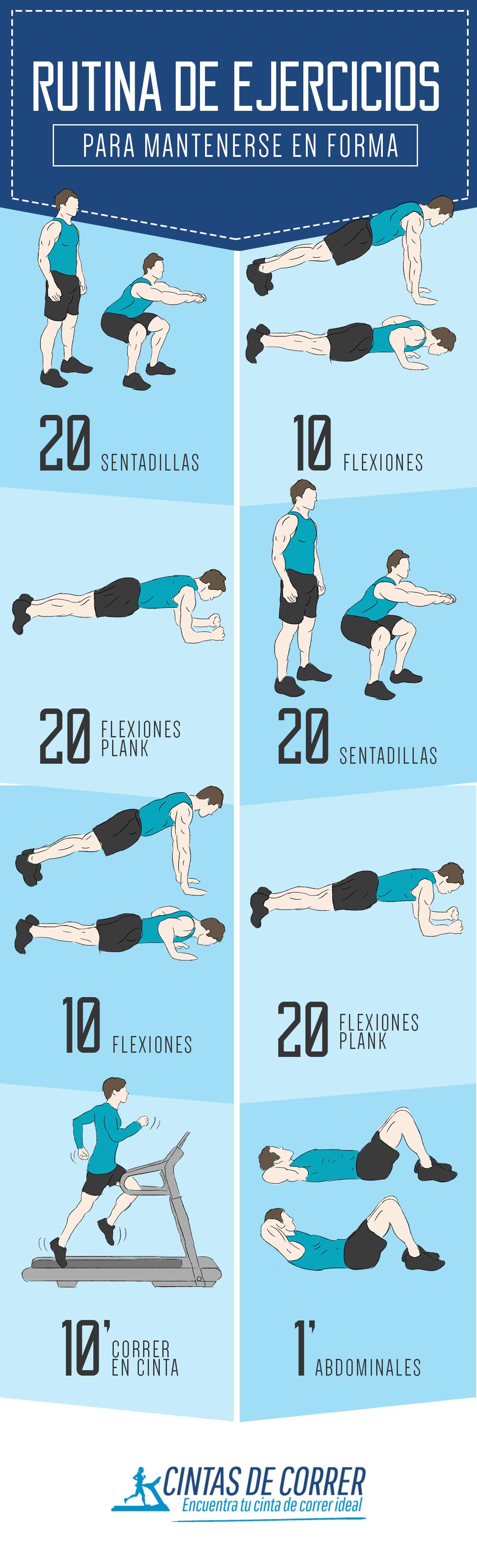 Rutina de ejercicios para mantenerse en forma