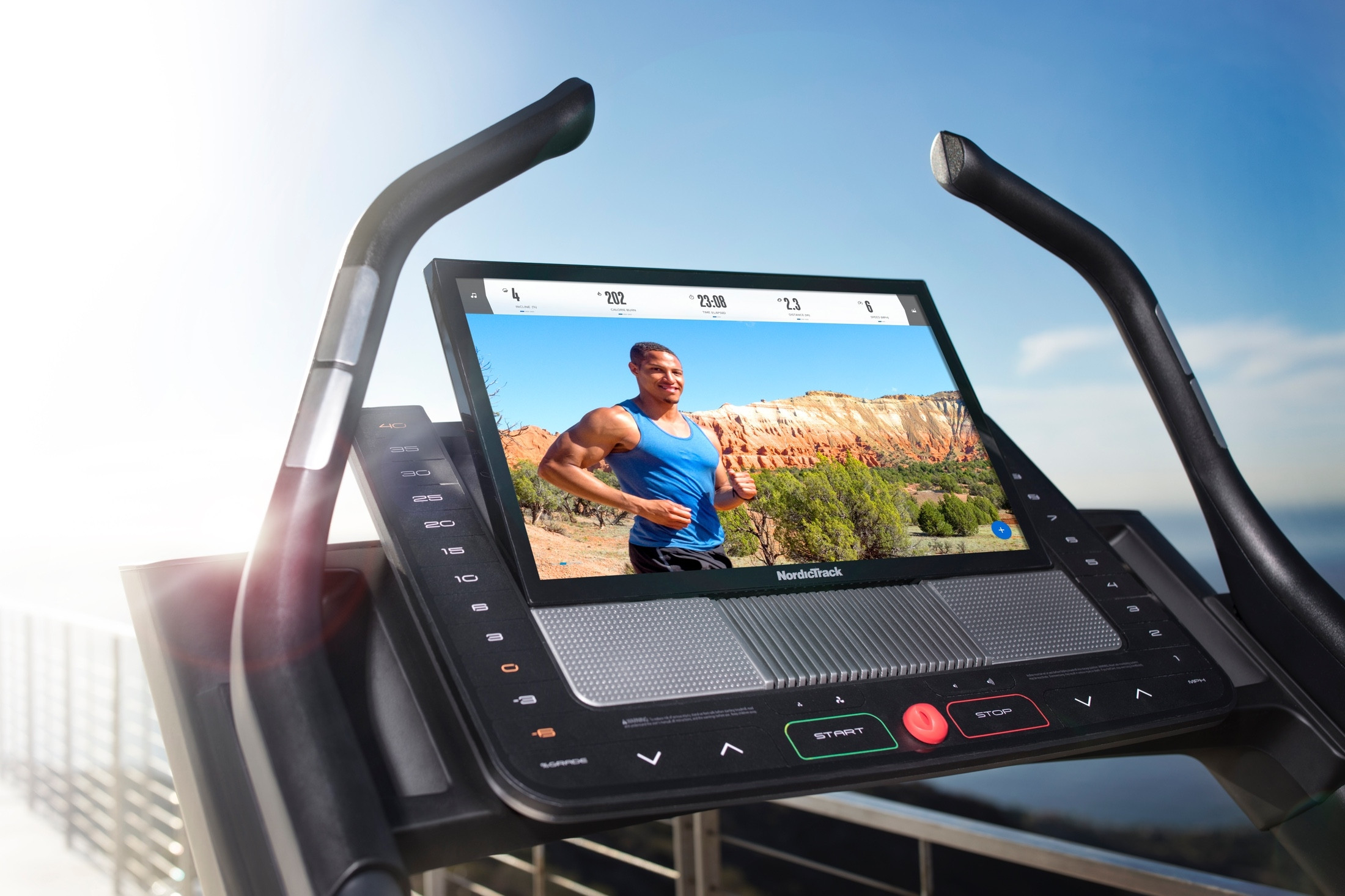 Tablet i pantalla de la cinta de correr NordicTrack x22i