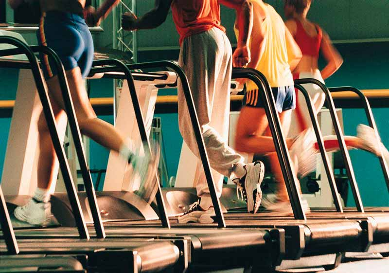 Runners en cintas para correr